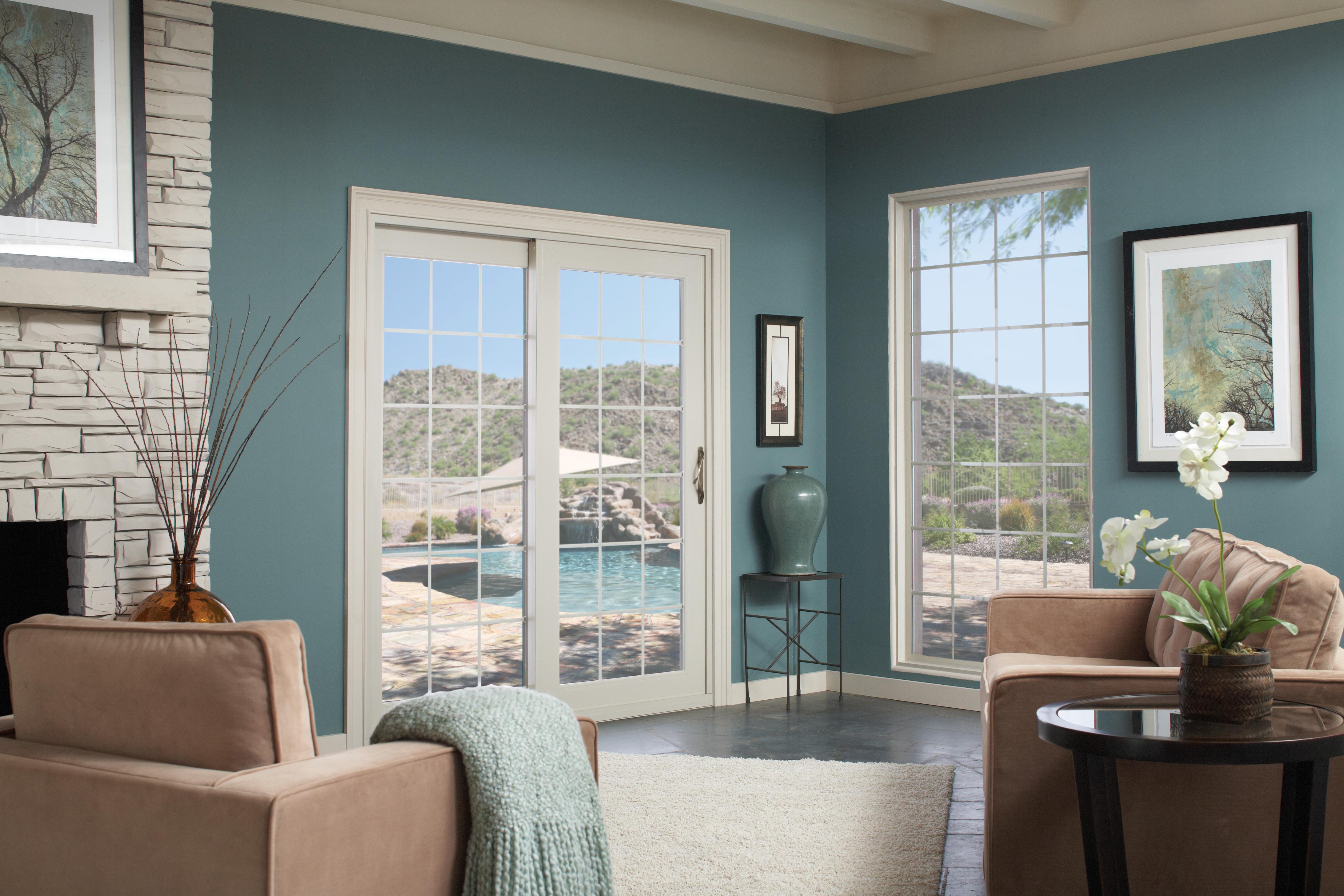 red screen glass wood restorationsred with doors door windows panels restorations handcrafted storm and river win