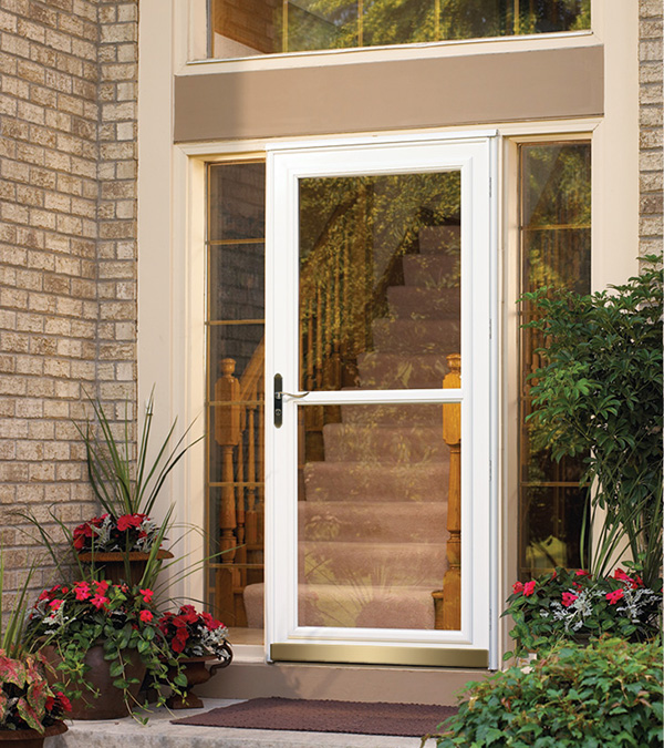 Front doors entry doors patio doors storm doors for Full glass screen door